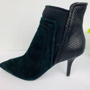 Kenneth Cole Vegan Suede and Leather Ankle Boot